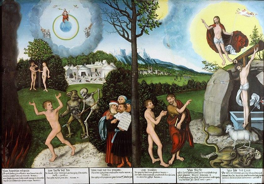 Lucas Cranach the Elder, Law and Gospel, Herzogliches Museum, Gotha, Germany